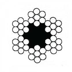 Câble croisé à 6 torons de 7 fils