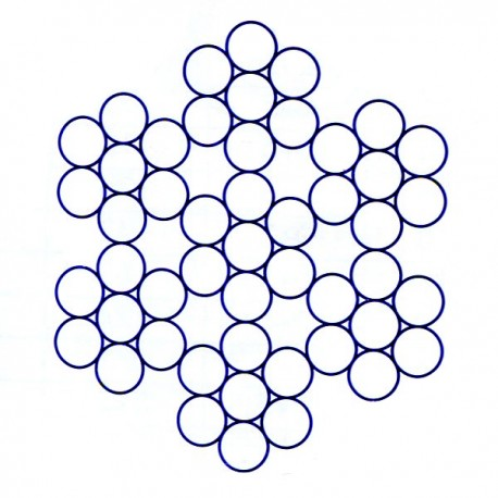Câble en acier inox à 6 torons de 7 fils