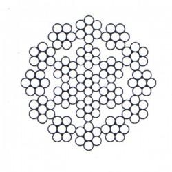 Câble antigiratoire à 19 torons de 7 fils