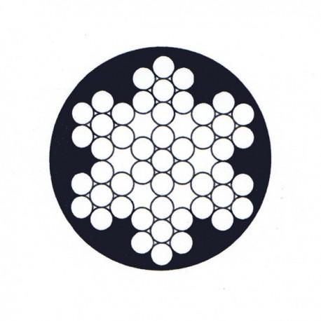 Câble enrobé de 6 torons de 7 fils