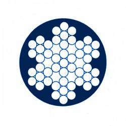 Câbe  inox enrobé de 6 torons de 7 fils